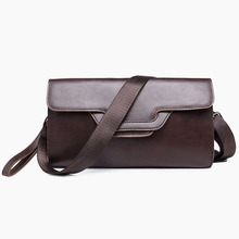 Men's PU Leather Clutch Bag Black Leisure Envelope Bag Business Fashion Weaving Bag  File Package Portable Wrist Bag