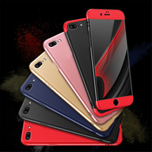 6 7 Case 3 in 1 Knight Armor Phone Cases For iphone 7 6 6s Plus SE 5 5S Case Ultra thin Fashion Phone Cover Matte Cases Fundas(China)