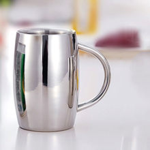 1pcs 410ml/300ml Stainless Steel Mug Double Wall Air beer cup Insulated Beverage Coffee Mug(China)