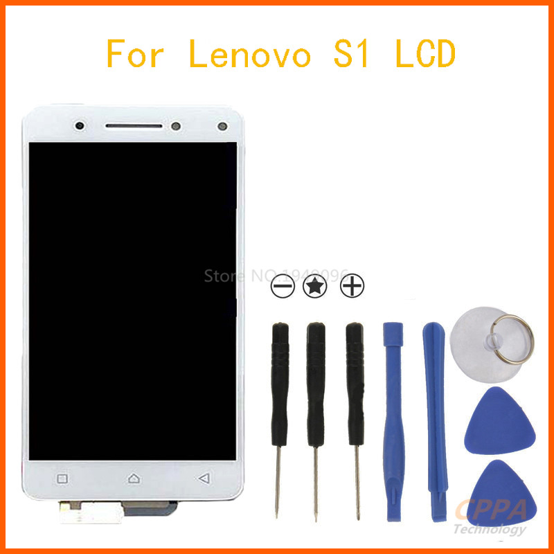 APS For Lenovo VIBE S1 LCD Display Touch Screen Digitizer Assembly Black White Replacement Parts + Tools Free Shipping<br>