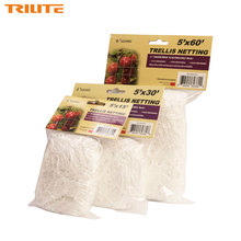 "TRI Brand Heavy-Duty Polyester Plant Trellis Netting 6"" Square Mesh Tangle-Free Net 3 Size White Color Climbing Vine Netting(China)"