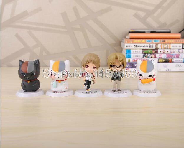 5pcs/set Natsume Yuujinchou Nyanko Sensei Mini PVC Action Figures Model Toys Dolls JP011<br><br>Aliexpress