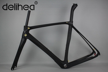 One Piece Mould 100% monocoques Road carbon bicycle frame,headset,fork with seatpost,new generation technology