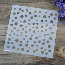 DIY Craft Polka Dot Layering Stencils For Walls Painting Scrapbooking Stamping Stamps Album Decorative Embossing Paper Cards