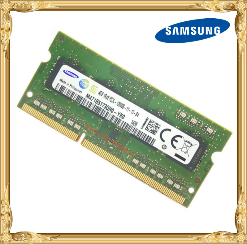 Samsung DDR3 4GB 1600MHz PC3 PC3L-12800S Laptop memory  notebook RAM 12800 4G<br>