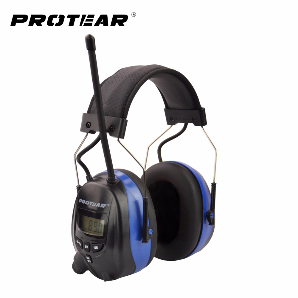 Protear NRR 25dB Electronic Hearing Protector AM FM Radio Earmuffs Electronic Shooting Earmuff Headset Hearing Ear Protection<br>