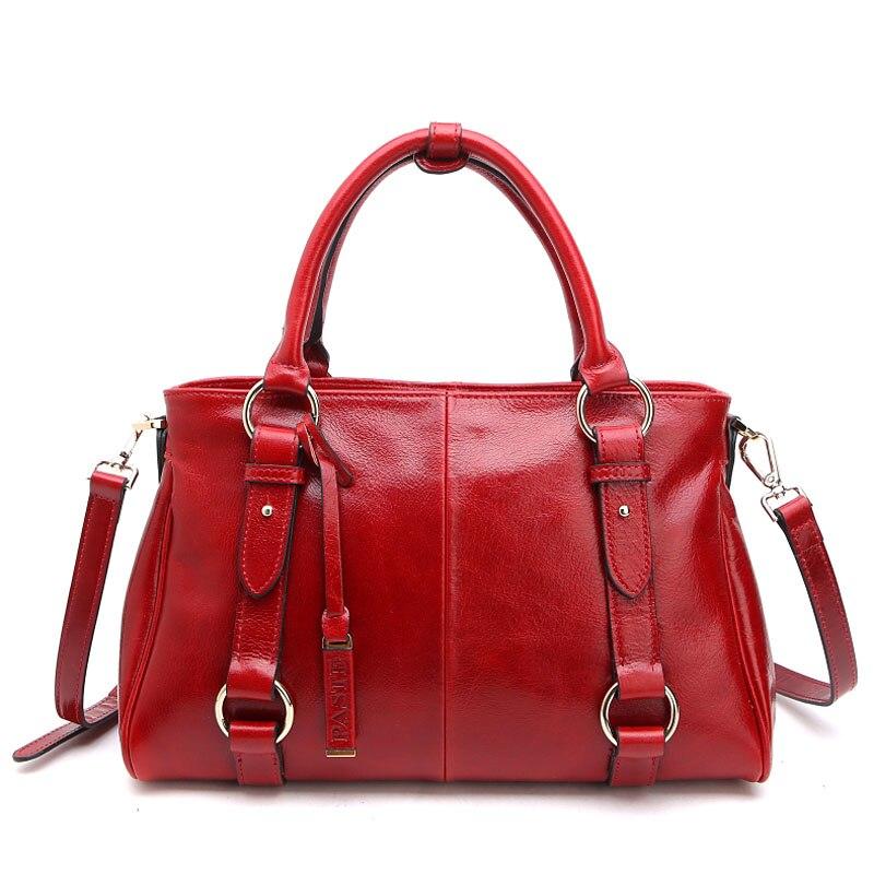 Fashion brief womens genuine leather handbag 2015 wax first layer of cowhide vintage bag fashion bags handbag messenger bag<br><br>Aliexpress