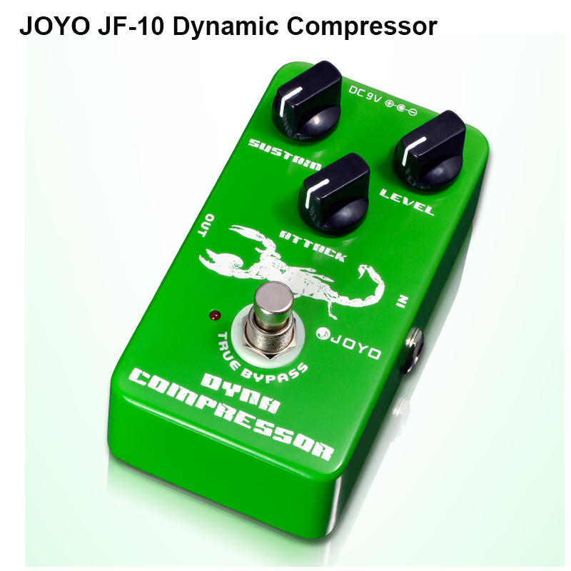 JOYO JF-10 Dynamic Compressor guitar effect pedal reduce the redundant dynamic ensure your Performance true brpass free shipping<br>