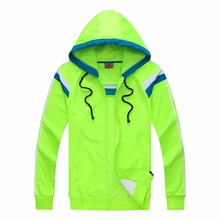 2017 new man 102 with hat fluorescent green clothes light board soccer sweatshirt sportswear adult long sleeve suit uniform