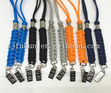 Wholesale10 Colors High Quality Paracord Necklace Hand woven  Bus IC Card Holder Employee Identity Card With Lanyard Card Holder