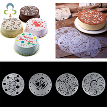 Eco Friendly High Quality 4 Styles Flower Heart Spray Stencils Birthday Mold Decorating Bakery Tools DIY(China)