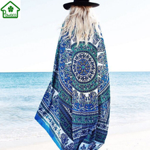 2017 Chiffon Indian Mandala Wall Hanging Tapestry Bohemian Beach Towel Cover Up Yoga Mat Blanket Tablecloth Home Decor 150x146cm