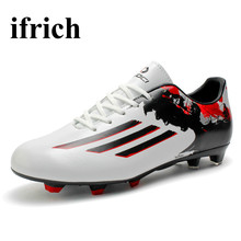 Mens Soccer Shoes Outdoor Training Football Shoes Leather Boys Mens Soccer Boots Cheap Football Cleats Long Spikes Trainers