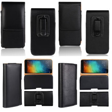 Holster Belt Clip Case For Xiaomi Redmi 4X 3 3S 4 4A Pro Cover Waist Bag Leather Pouch For Redmi Note 4X 4 3 2 Pro Etui Coque(China)