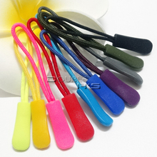 100pcs/lot Zipper Pulls Cord Rope Ends Lock Zip Clip Buckle Black For  Backpack/Clothing Accessories
