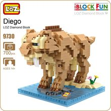 LOZ ideas Diamond Block Ice Age Diego Smilodon Saber-toothed Tiger Doll Nano Building Blocks Toys Nanoblock Bircks DIY Toy 9730