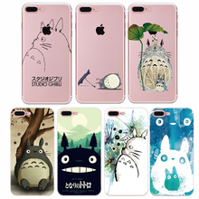 Honsir Case For iphone7 Case Cute Cartoon Silicone Cover Original For iphone 7 Plus 6 6s 5 5s se Tpu Soft Shell Totoro Cat Capas