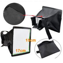 15 x 17cm Universal Cloth Soft Box Flash Bounce Diffuser for Canon Nikon Sony
