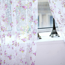 Hot Sales Multi-Colors Floral Scarfs Sheer Voile Door Window Curtain Drapes Panel Valances Curtains