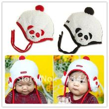 DHL&EMS Free Shipping!Wholesale Fashion The latest Panda Plush Ear Muff Children's Hat,Fashionable Ear Protection Cap,Hot Beanie