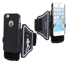 Haissky Arm Band With Case For iphone SE 5 5S 6 6S 6plus Arm Belt Case Cover Armor Holster Defender Sport Protective Case Fundas