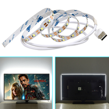 USB 5V LED Strip 50cm 1m 2m 3m 4m 5m SMD 2835 LED Tape Christmas Desk Computer Car Bike Decor Light for TV Background Lighting