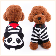 New Fashion Winter Dog Coats High Quality Fleece Jackets Cosplay Panda Costume Pets Coats Lovely Small Pet Clothes Free Shipping(China)
