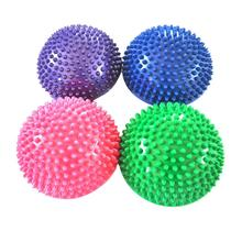 4 color Yoga Half Ball Fitness Equipment Kids Elder Durian Massage Mat Exercise Balance Point Gym Yoga Pilates Ball(China)