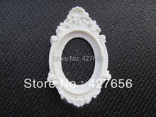 10pcs White/Black Oval Flatback Resin Charm Finding, Base Setting Tray, for 30x40mm Cabochon/Picture/Cameo,DIY Accessry(China)