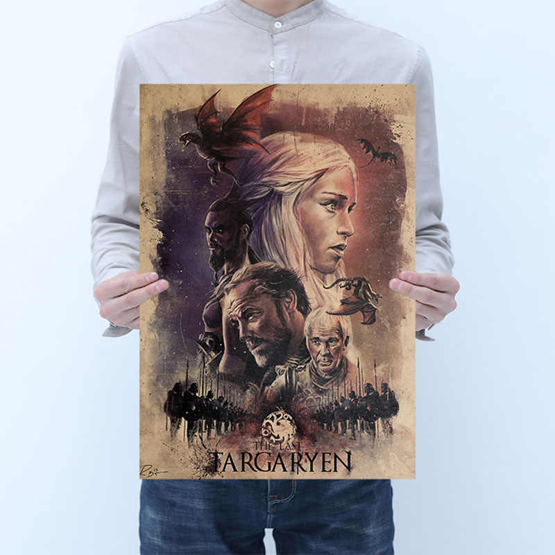 mling 1PC Modern Wall Art Home DecorationGame of Thrones Poster Living Room Canvas Painting Cafe Bar Home Decor Painting