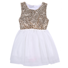 Girls Sequins Dress, Baby Girl Flower Dresses,Bow Backless Party Gown Dress,Children's Summer Clothes 3-10Y