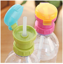 Children's Portable Spill-Proof Bottle Drinks Straw Cover Children Drinking Protection Tool Free Shipping(China)