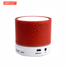 New Arrival ! LED Mini Wireless Bluetooth Speaker A9 TF USB FM Portable Musical Subwoofer Loudspeakers For phone PC with Mic(China)