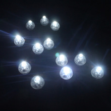 50Pcs/lot White 2017 Round Led Ball Lamps Mini Lantern Balloon Light For New Year Wedding Party Decoration Floral Decor