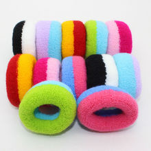 1pcs Gum Rubber Bands Colorful Black Elastic Seamless Ponytail Holders Hot 2016 New Fashion Girl Women Tie Gum 2017(China)