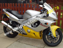 Hot Sales,For YAMAHA Thundercat YZF600R 97-07 YZF 600R YZF-600R 97 98 99 00 01 02 03 04 05 06 07 Yellow silver Fairing Kit