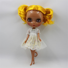 Factory Blyth Doll Nude Doll Yellow Hair Chocolate Skin 4 Colors For Eyes Suitable For DIY