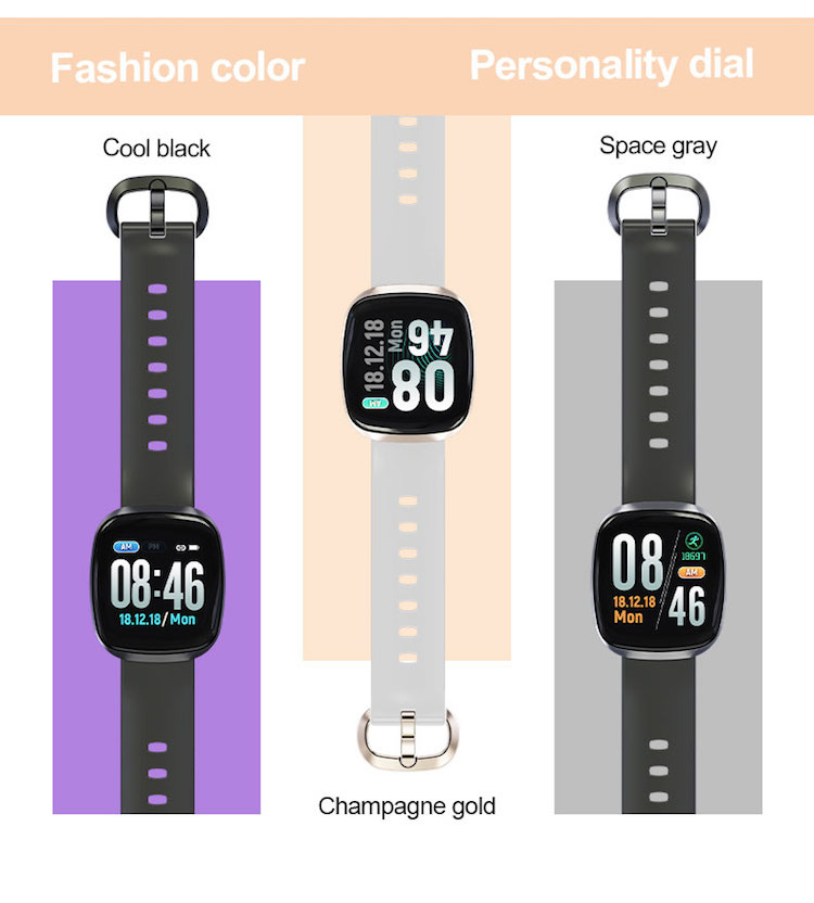 New arrival color touch screen GT103 Fitness tracker for Women Men Smart Watch Wrist Bands for iOS Android Activity Tracker