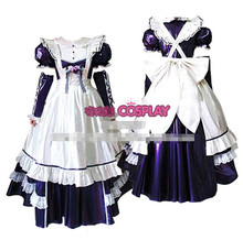 Hot Sale Custom Made Short Sleeve Princess Japanese Maid Outfit Dress Cosplay Party Set Apron Costume