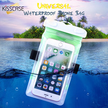 KISSCASE Waterproof Phone Case For iPhone 7 6 Plus Case Huawei Water Resistance Pouch For Samsung Galaxy S8 S7 Edge Xiaomi Case(China)