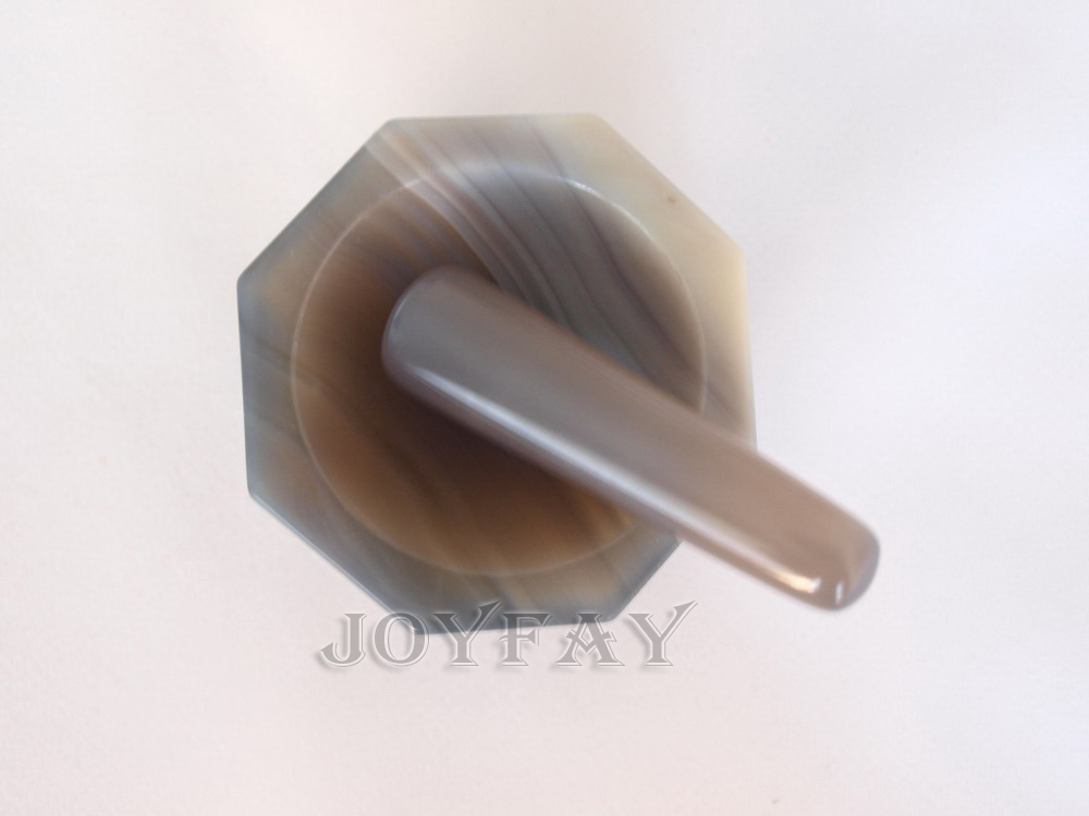 Natural Agate Mortar and Pestle for Laboratory ID=50 mm 2 OD=60 mm Lab Grinding<br>