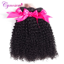 Cynosure Afro Kinky Curly Weave Human Hair Bundles Natural Black Brazilian Hair Weave Bundles 10''-28'' Non-remy Hair(China)