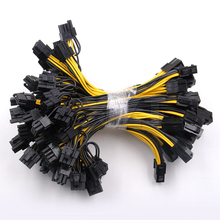 Hot 100pcs/lot 6-pin PCI Express to 2 x PCIe 8p (6+2) pin Motherboard Graphics Video Card PCI-e GPU VGA Splitter Power Cable