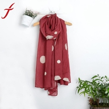 Winter Warm Scarf Men Women Dot printing Woolen Long Large Wrap Scarf Women red blue green(China)
