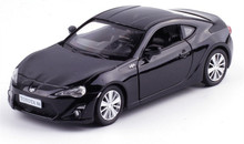 1:36 scale Alloy pull back car model, High simulation toyota 86 supercar, Two open doors,sound light toy, Free Shipping(China)