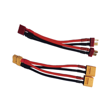 T/XT60 plug Deans plug Connectors 1 to 2 Dual Battery Extension Parallel Cable Leads Adapte For RC Lipo Battery