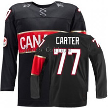 Embroidery stitching retro throwback #77 Jeff Carter Team Canada Hockey jersey Customize any size player name number(China)