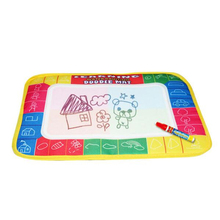 Free shipping 29X19cm 4 color Water Drawing Toys Mat Aquadoodle Mat&1 Magic Pen/Water Drawing board/baby play mat pen