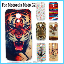 For Moto G 2nd Gen Soft Cartoon Painting TPU Gel Cover Case Skin for Motorola Moto G2 Cell Phone Rear Shell Protect Case 8 Color