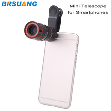 100pcs/lot Universal 8X Zoom Telescopic Mobile Phone Clip Telephoto Lens for iPhone 4s 5s 5c SE 6s Samsung S5 S6 S7 HTC LG Sony(China)